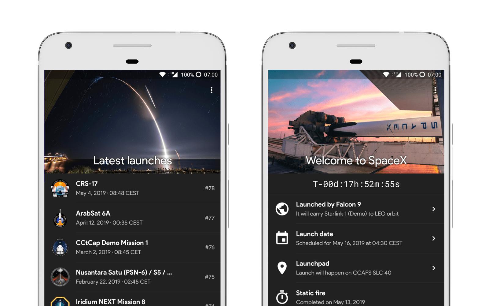 Space X GO! app