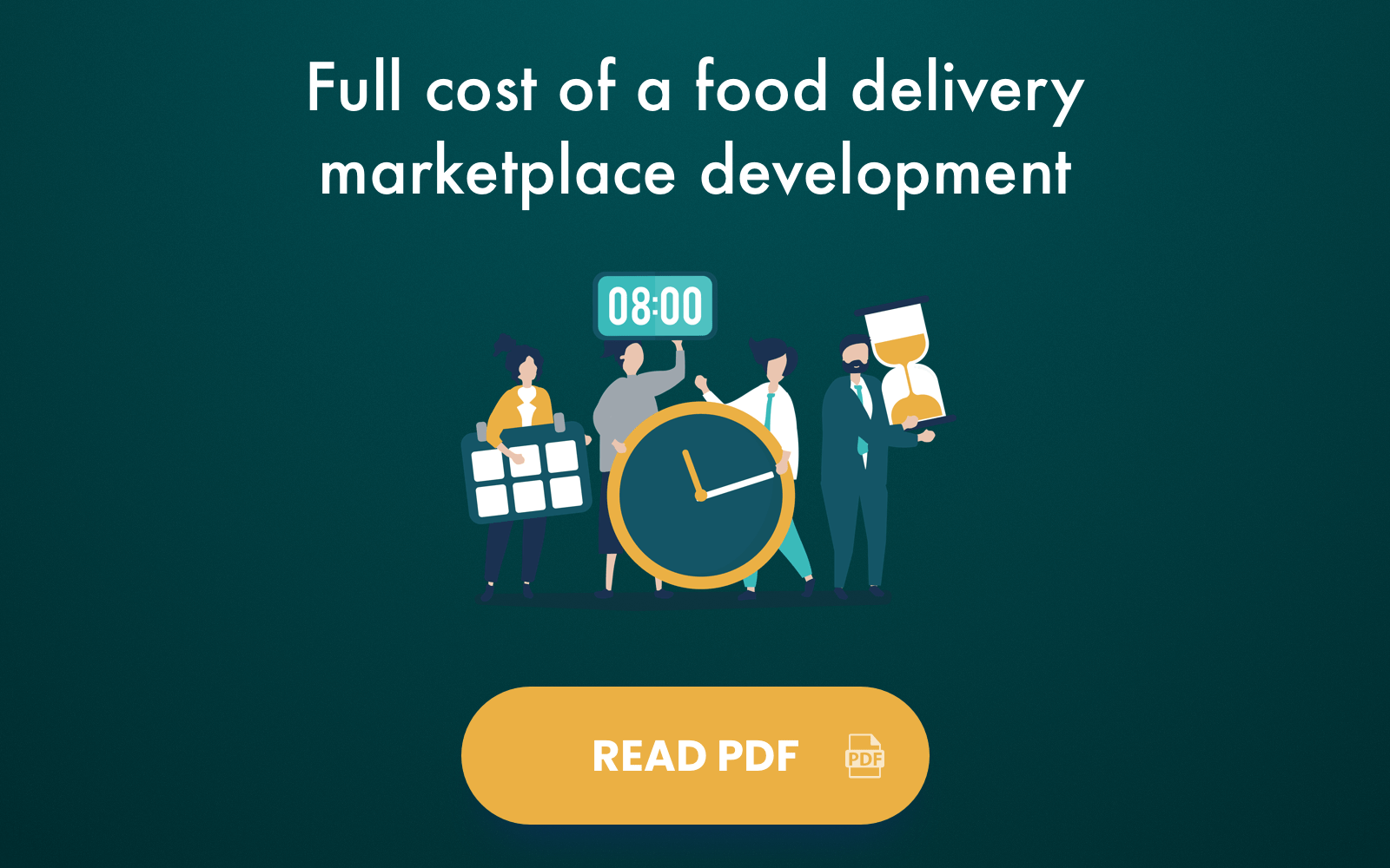 Full cost of a food delivery marketplace development