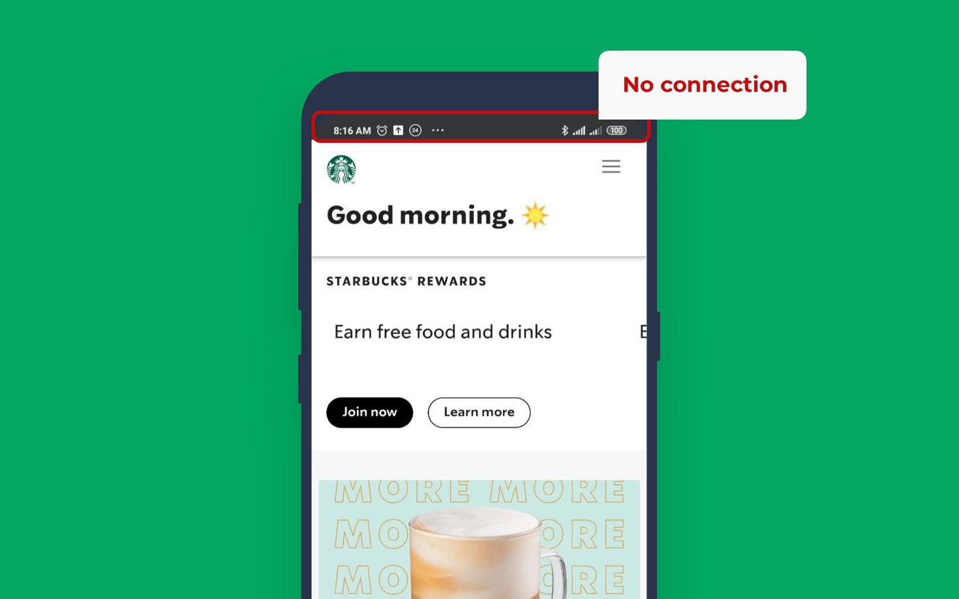 Starbucks PWA how it works offline