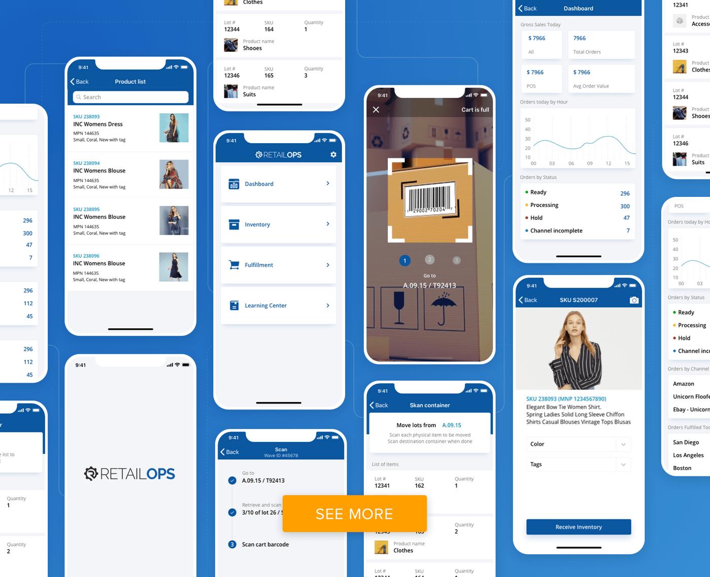 RetailOps design by Cleveroad