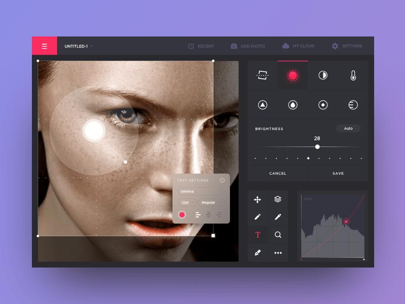 Photo editing app concept Cleveroad
