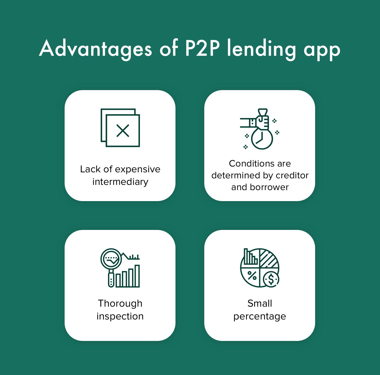 benefits of p2p lending app