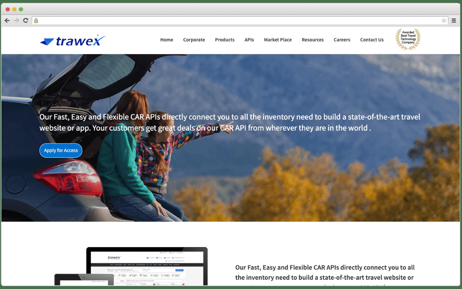 Trawex Universal Car API