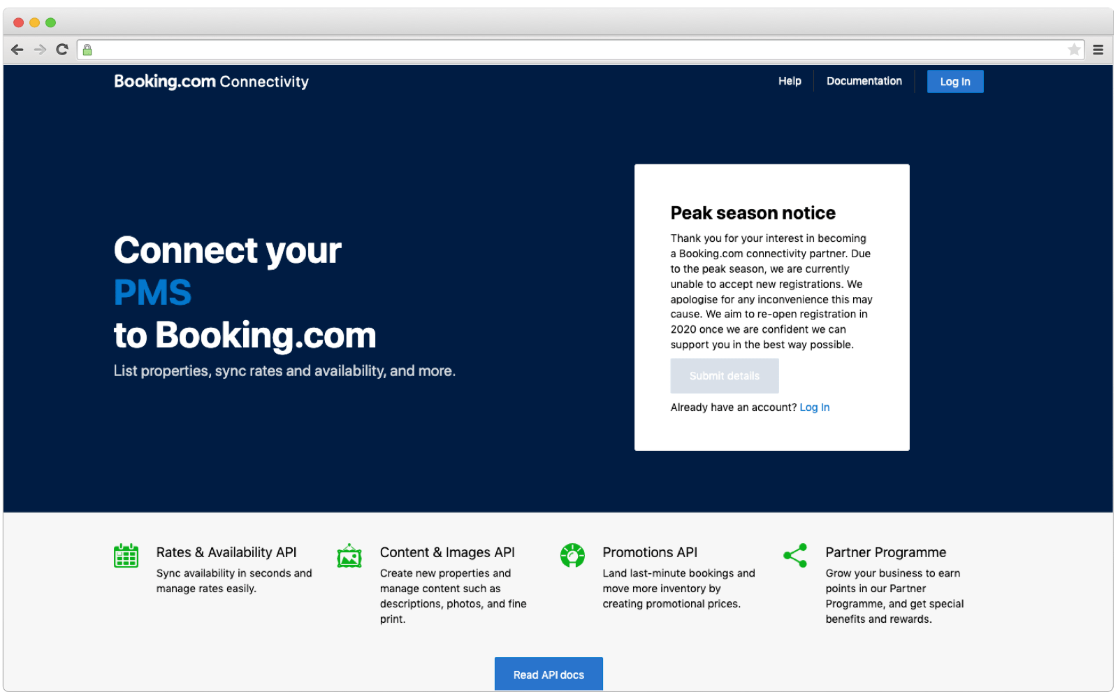 Booking.com Connectivity APIs