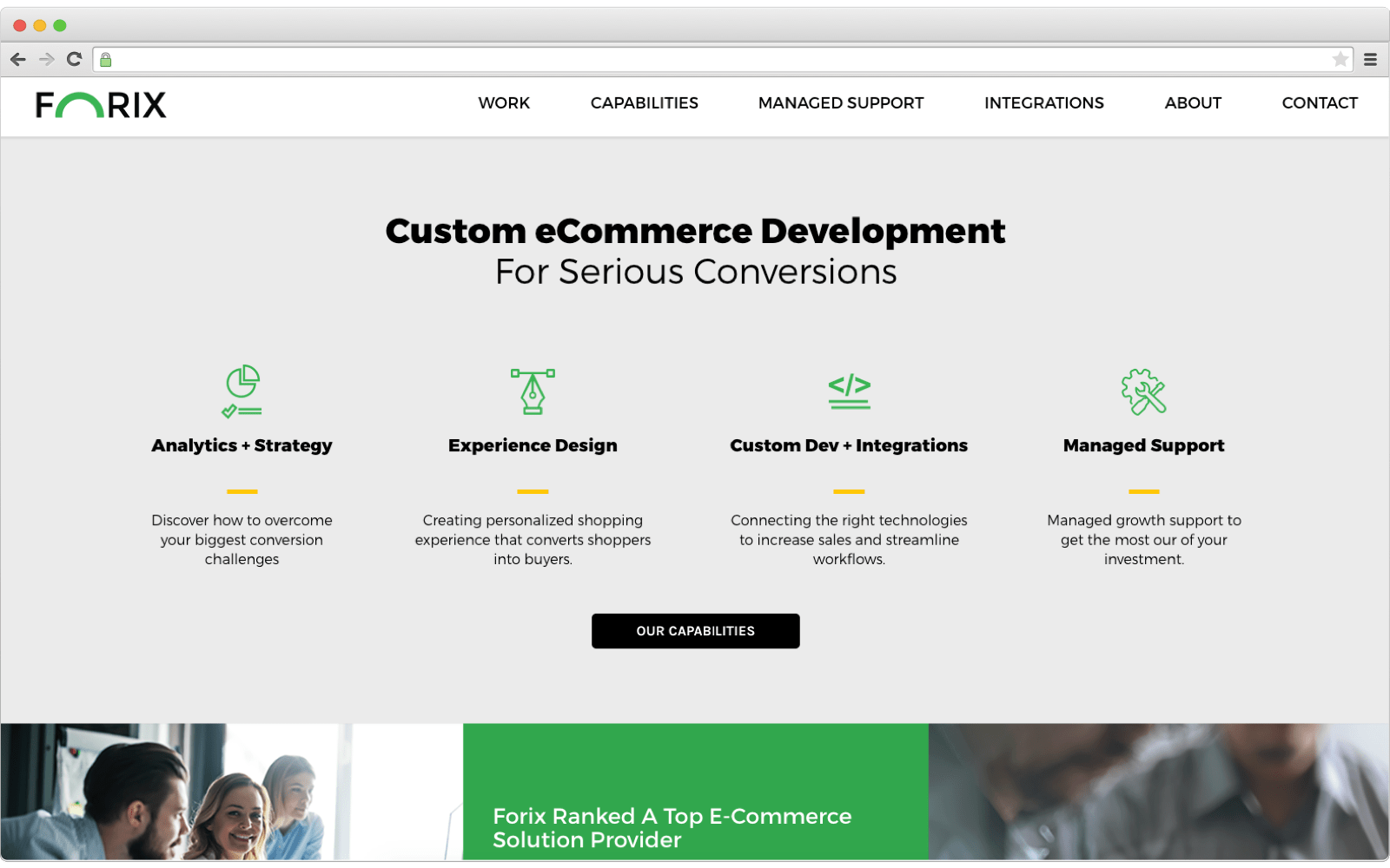 Ecommerce development company: Forix