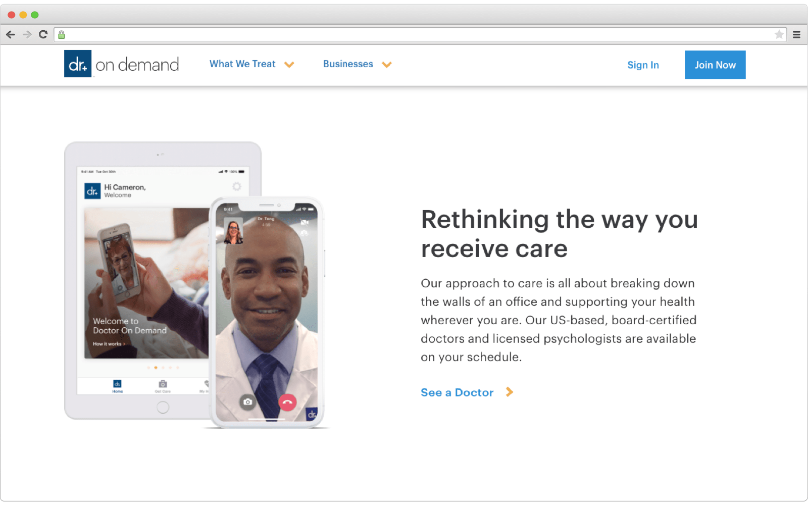 DoctorOnDemand best medical on-demand platform