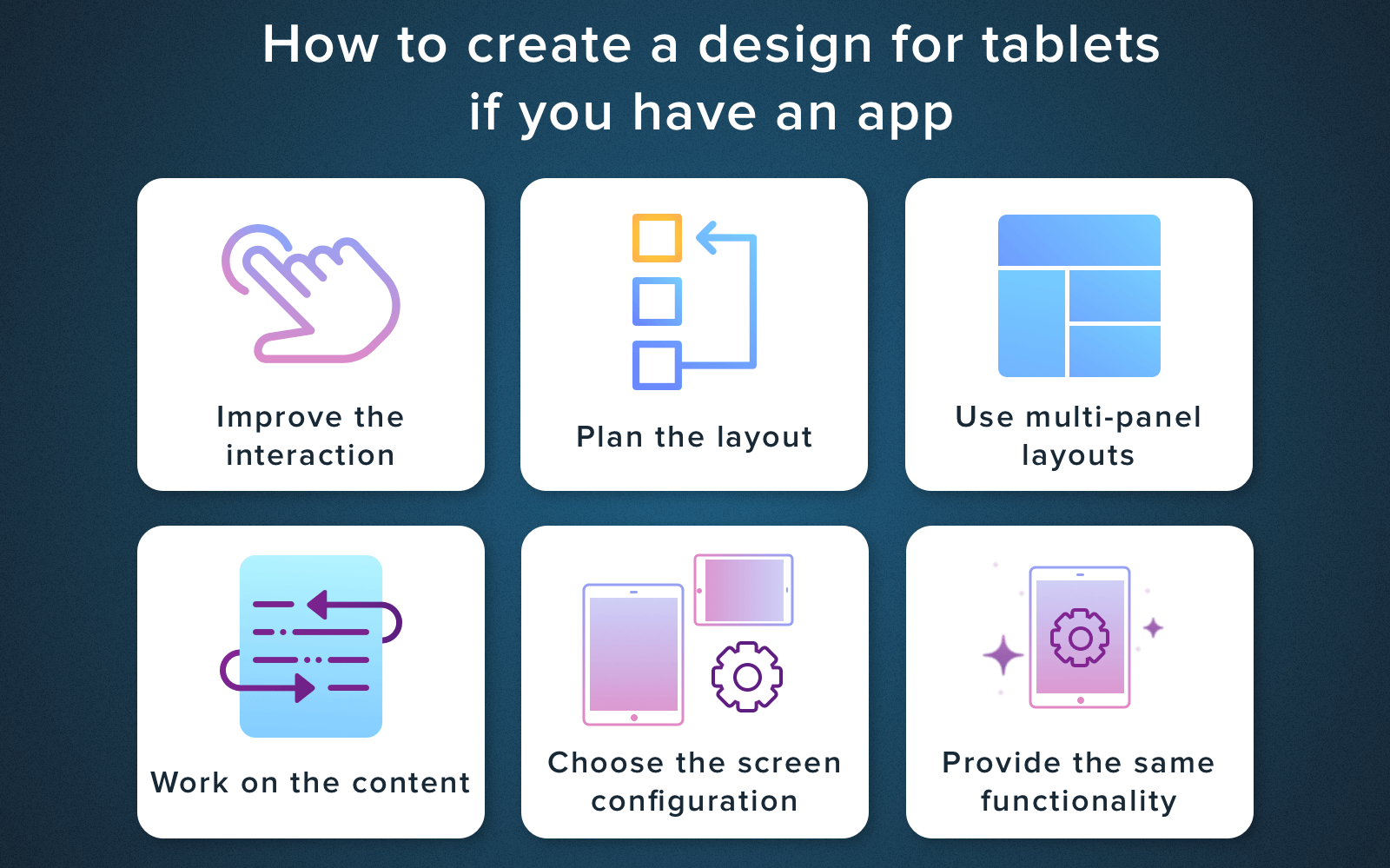 design android app for phone and tablet