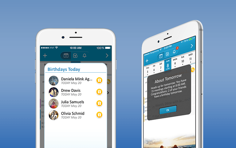 24me helps users schedule the tasks and events