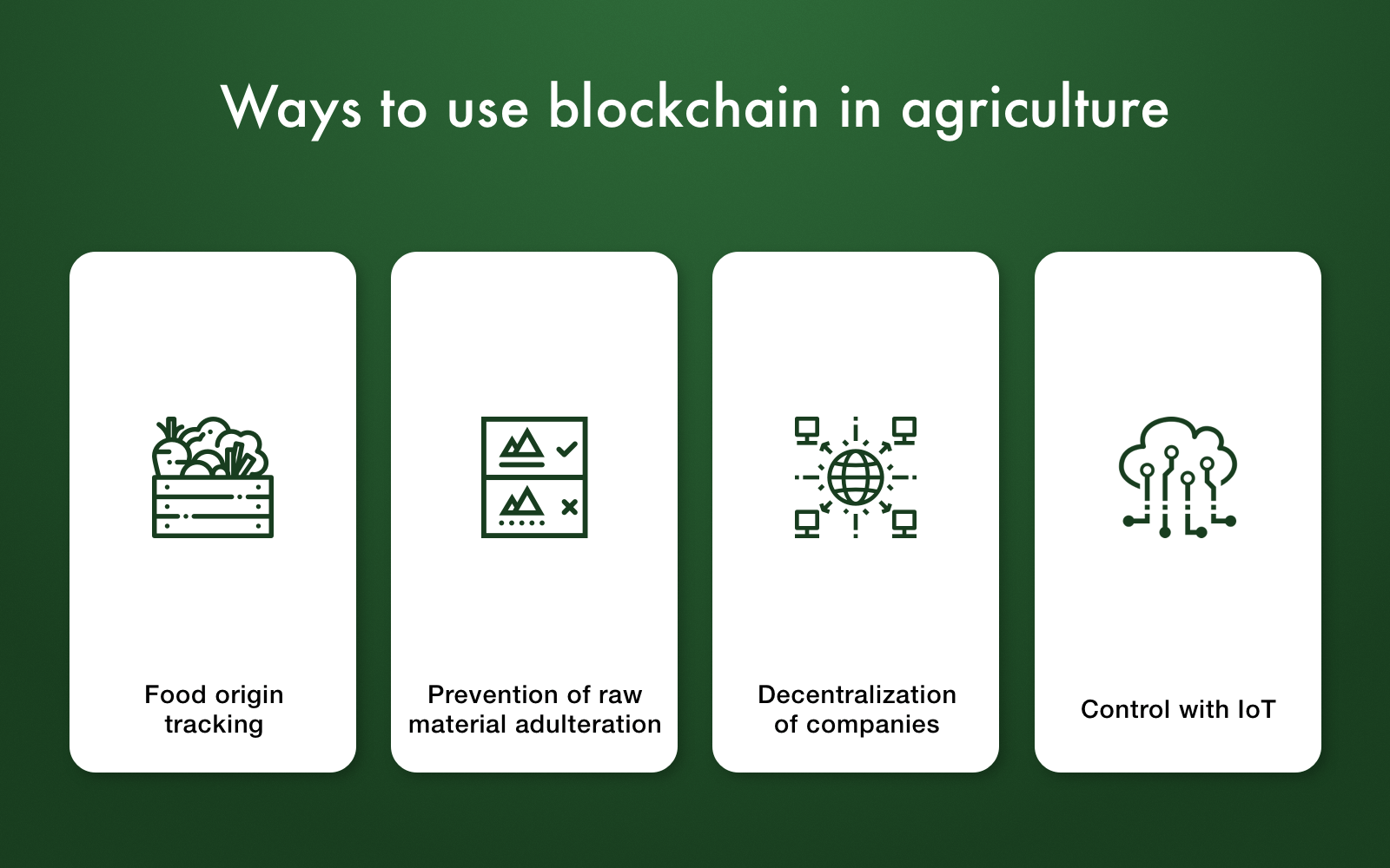 blockchain use cases in agriculture