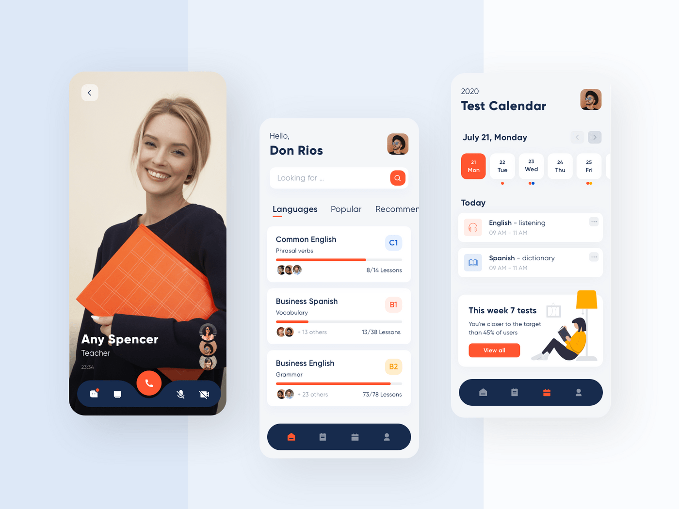 How to make an educational app: design concept