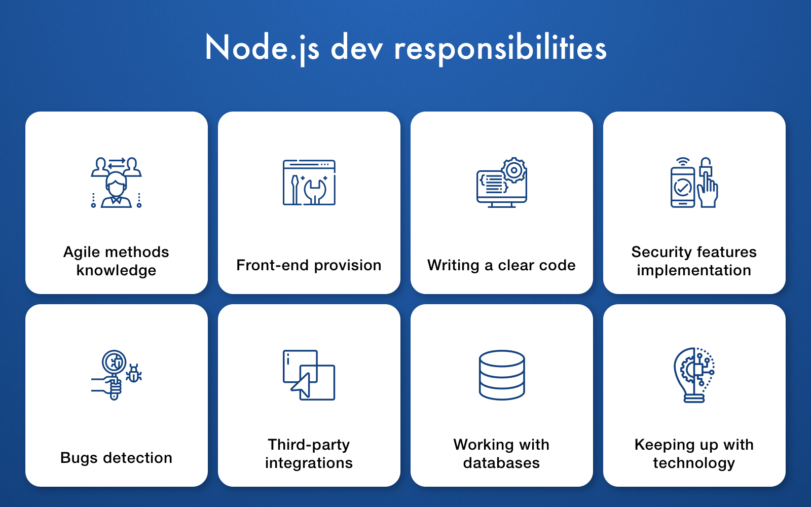 Node.js devs responsibilities
