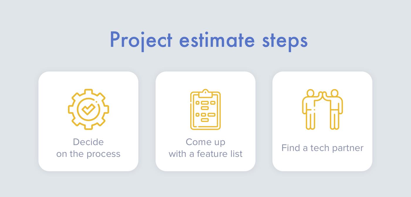 Main project estimate steps