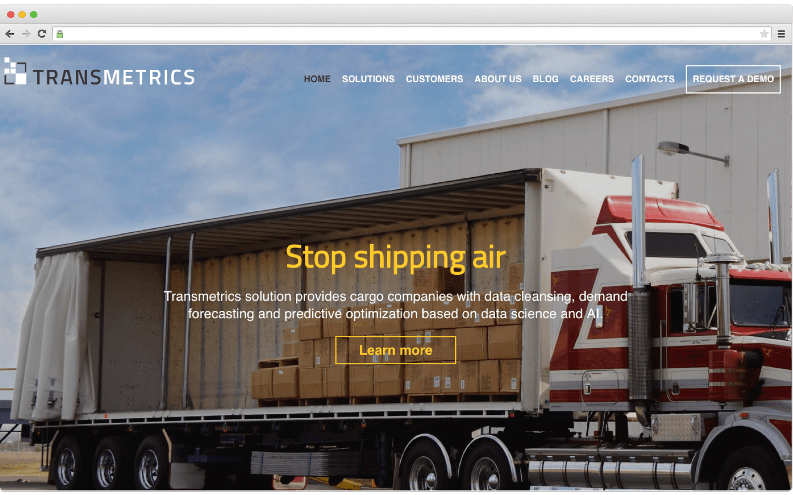 AI in logistics. Transmetrics