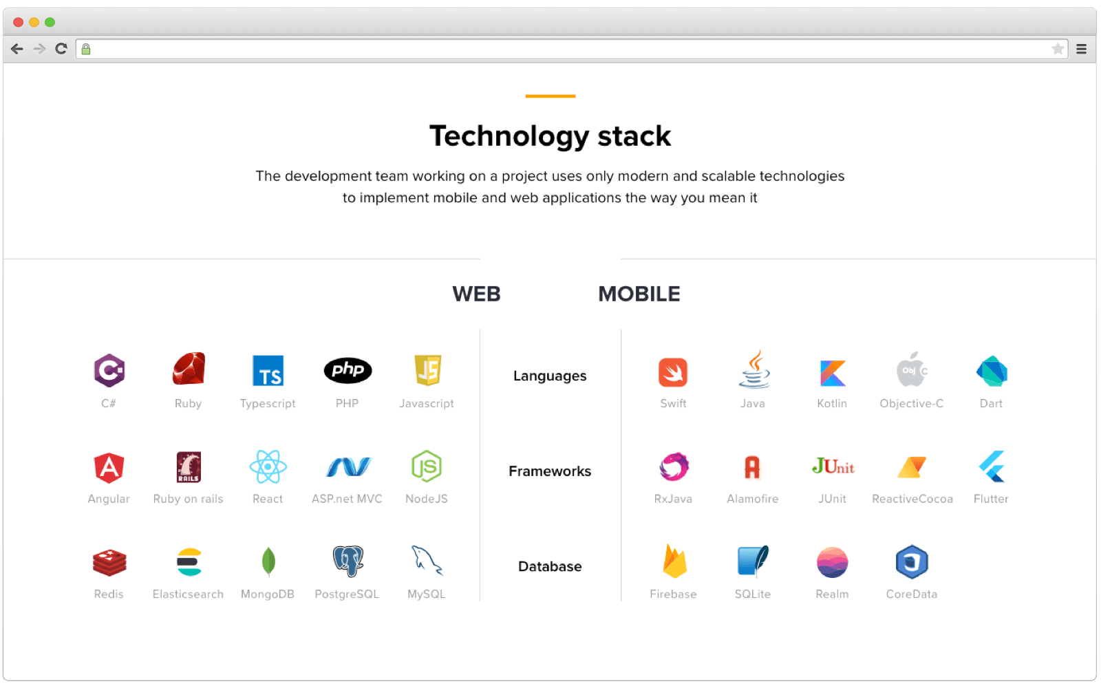 Cleveroad tech stack