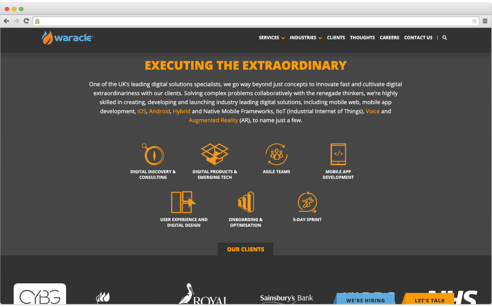 Ecommerce development company: Waracle