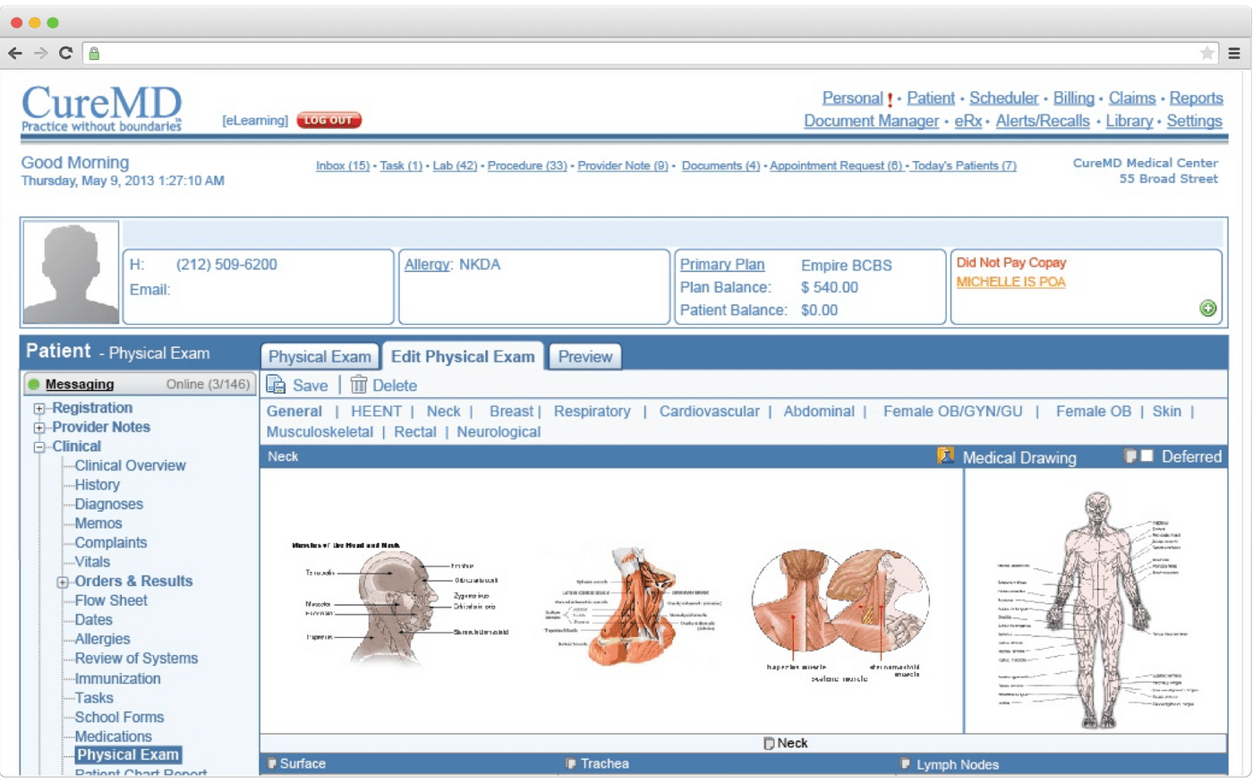Task management in EHR software