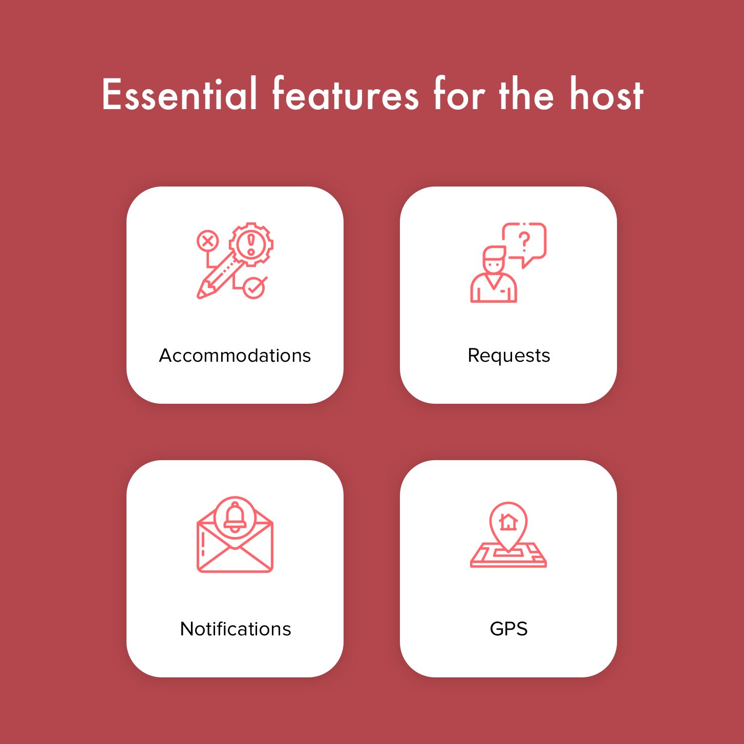 Core Airbnb features for the host