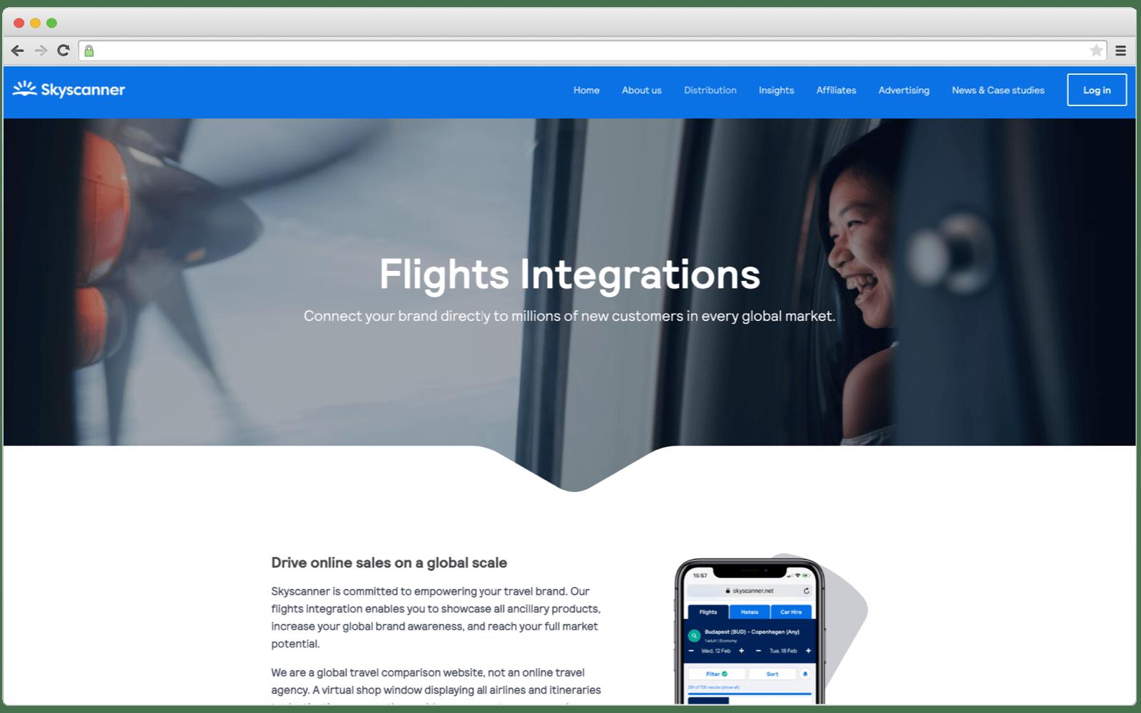 Skyscanner flghts API