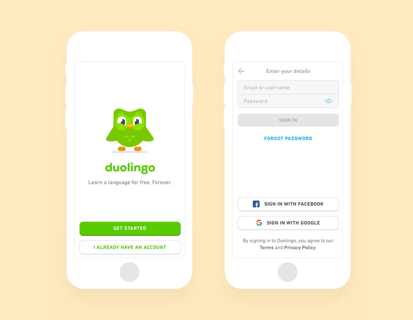 Duolingo registration