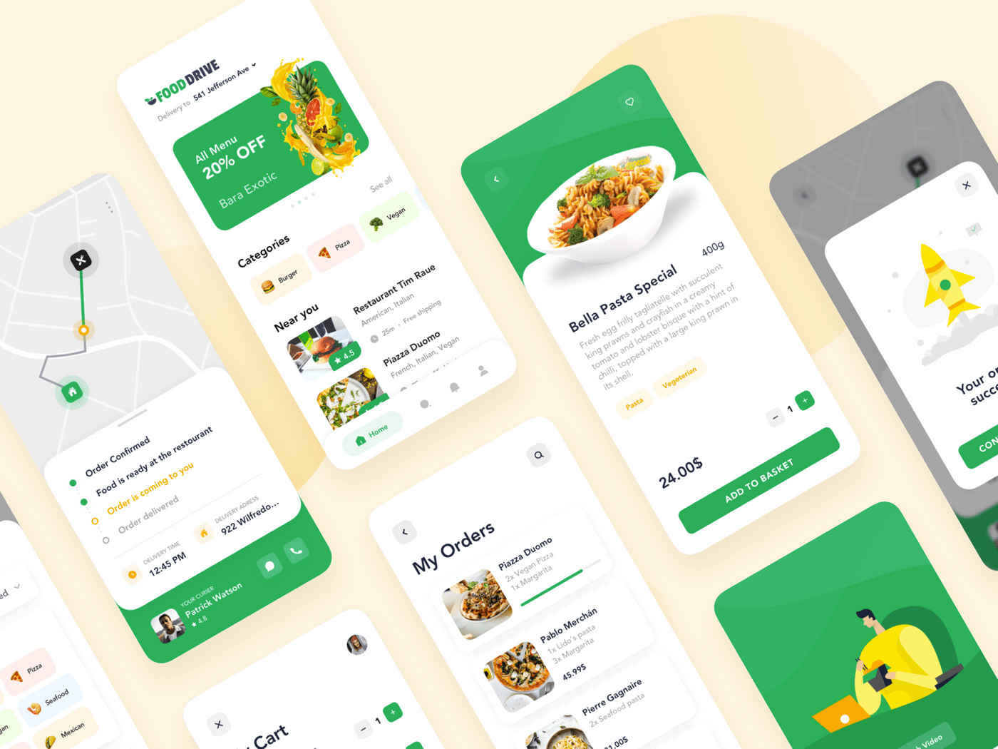 Food delivery app example