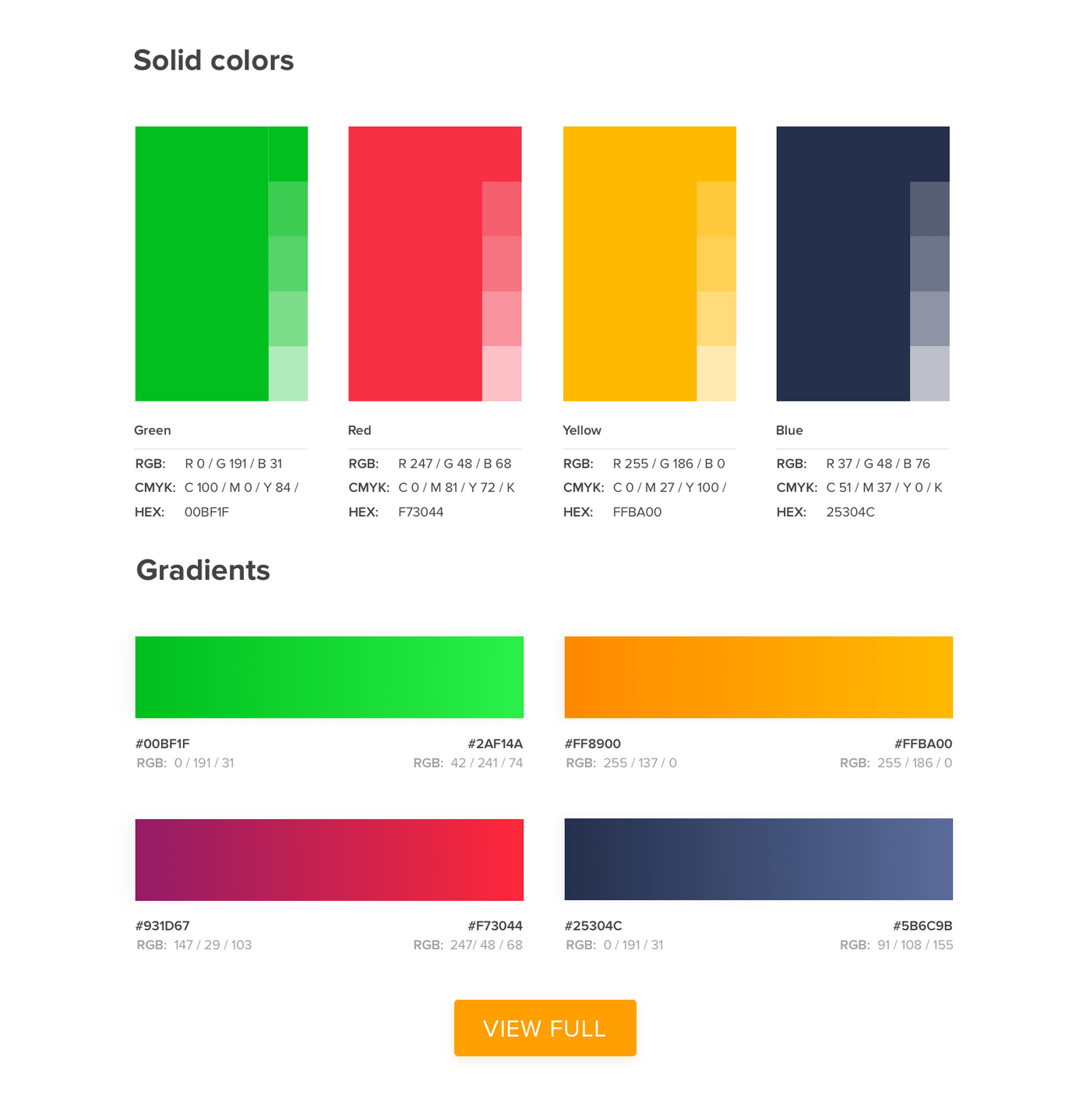 Example of a style guide