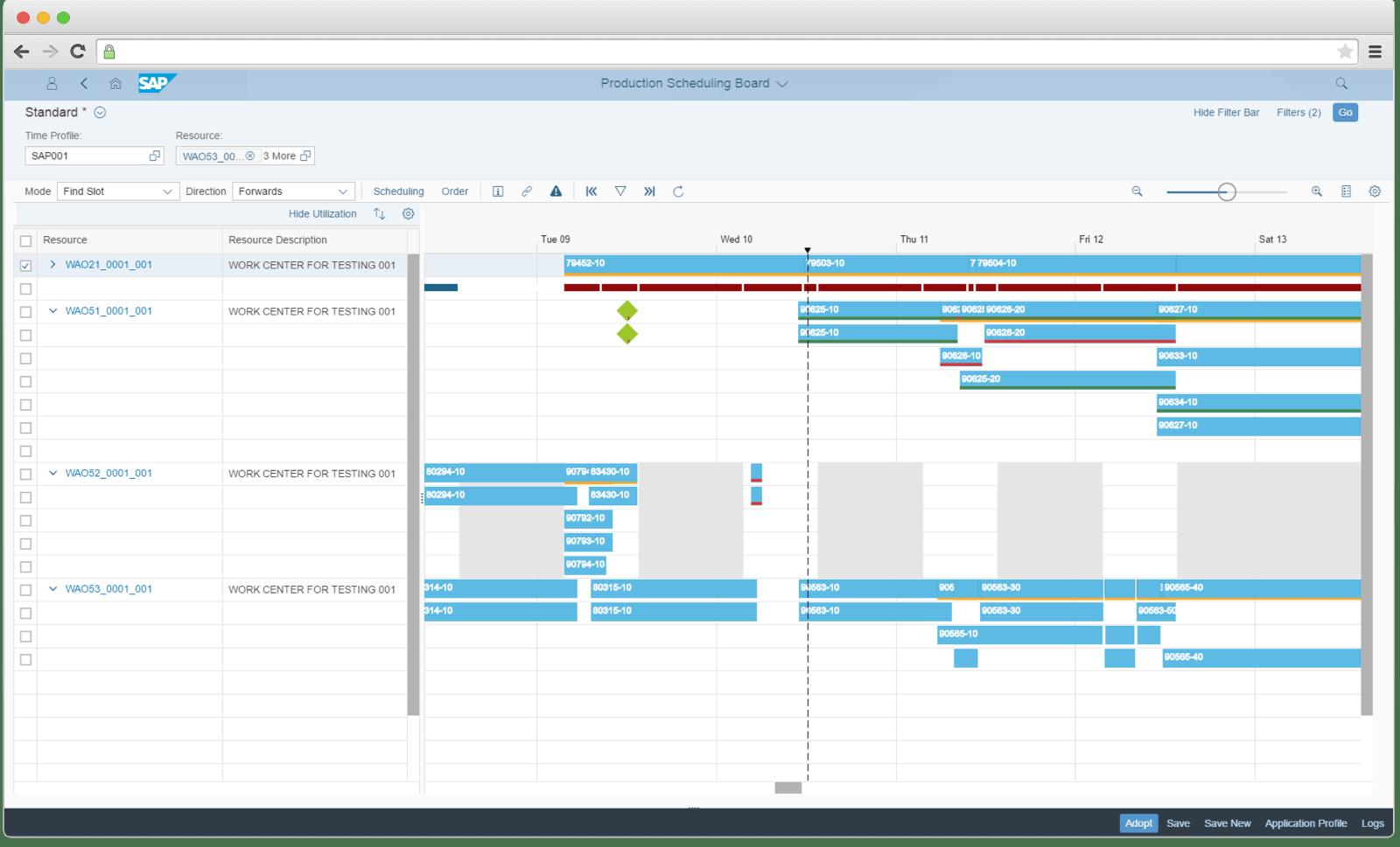 How SAP production module looks like