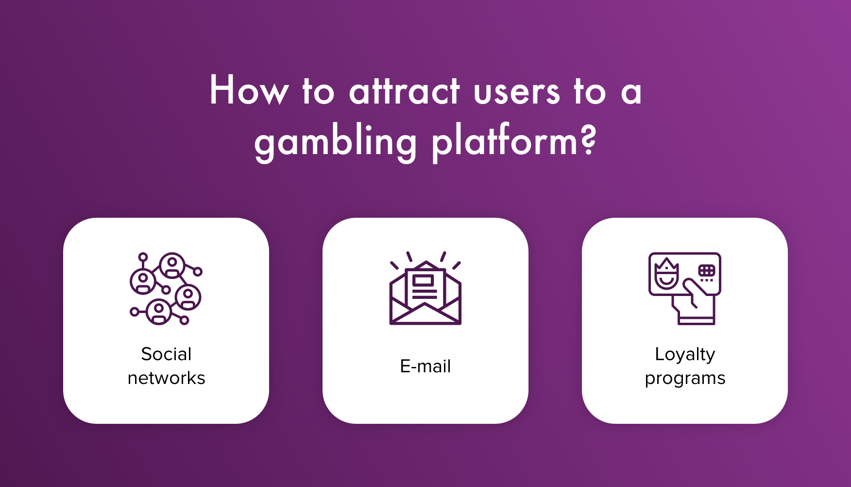 How to attract users to an online casino