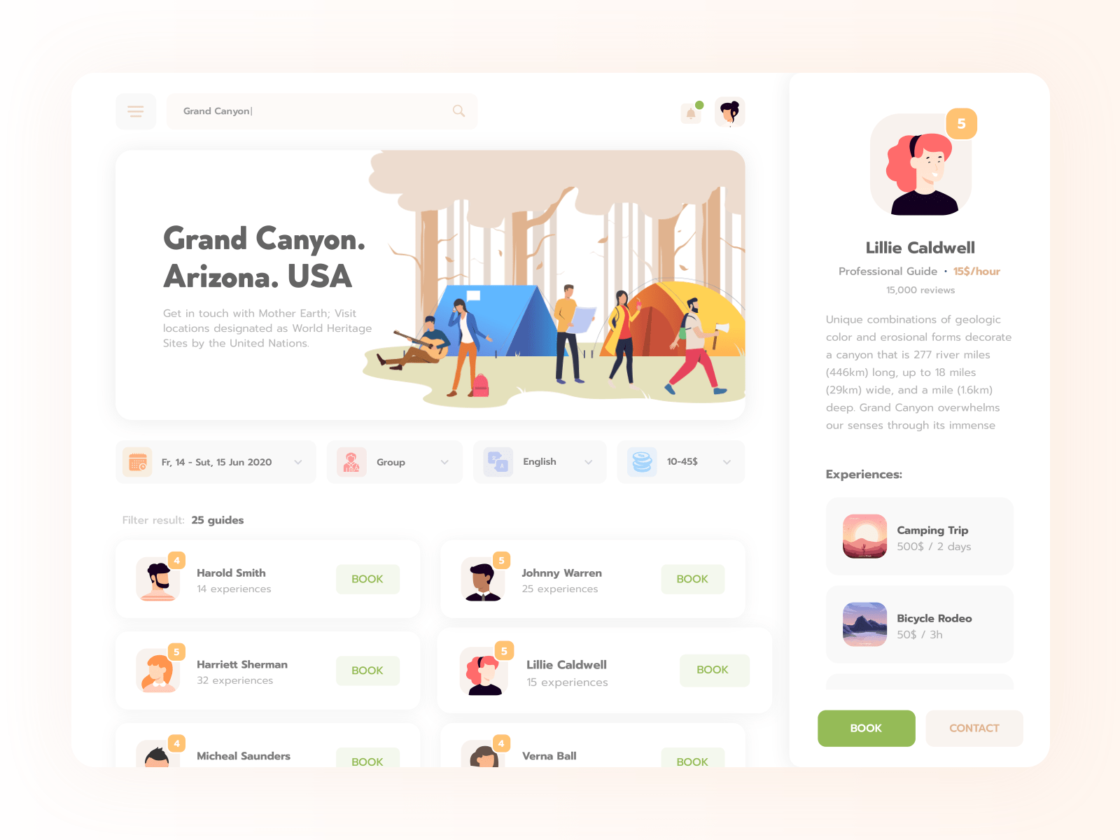 Concept of UI design by team of designers from Cleveroad