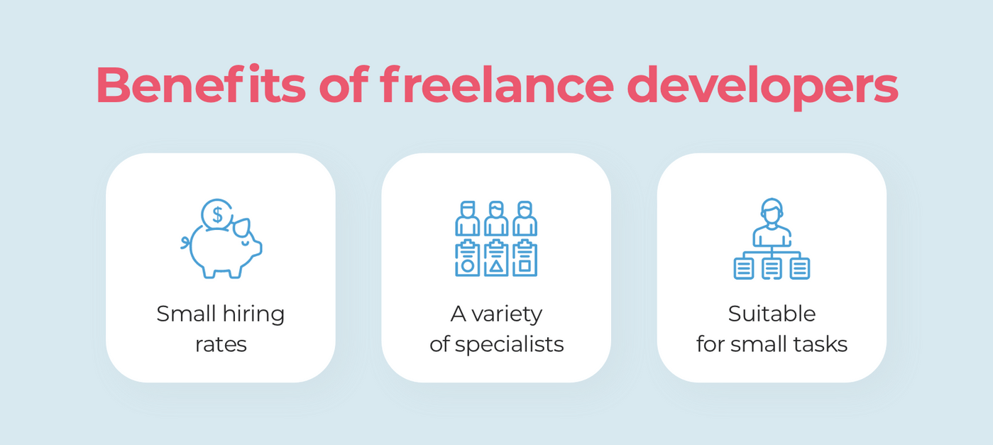 What are the benefits of hiring freelance programmers?