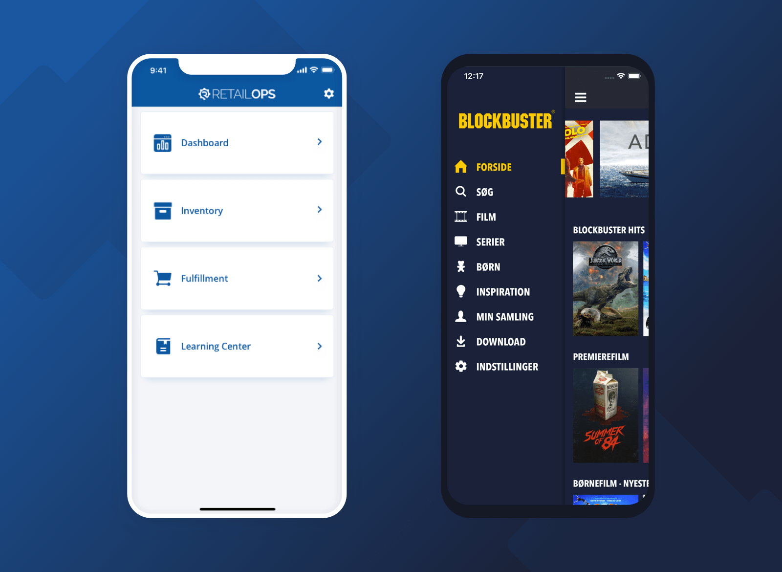 Blockbuster and RetailOps mobile design
