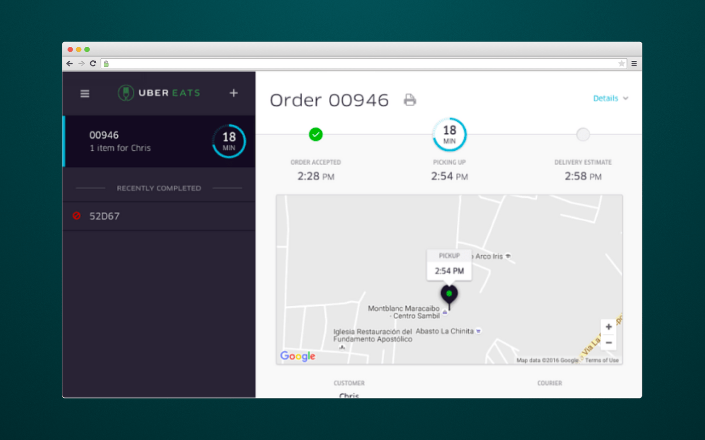 How eateries manage orders via UberEats admin panel