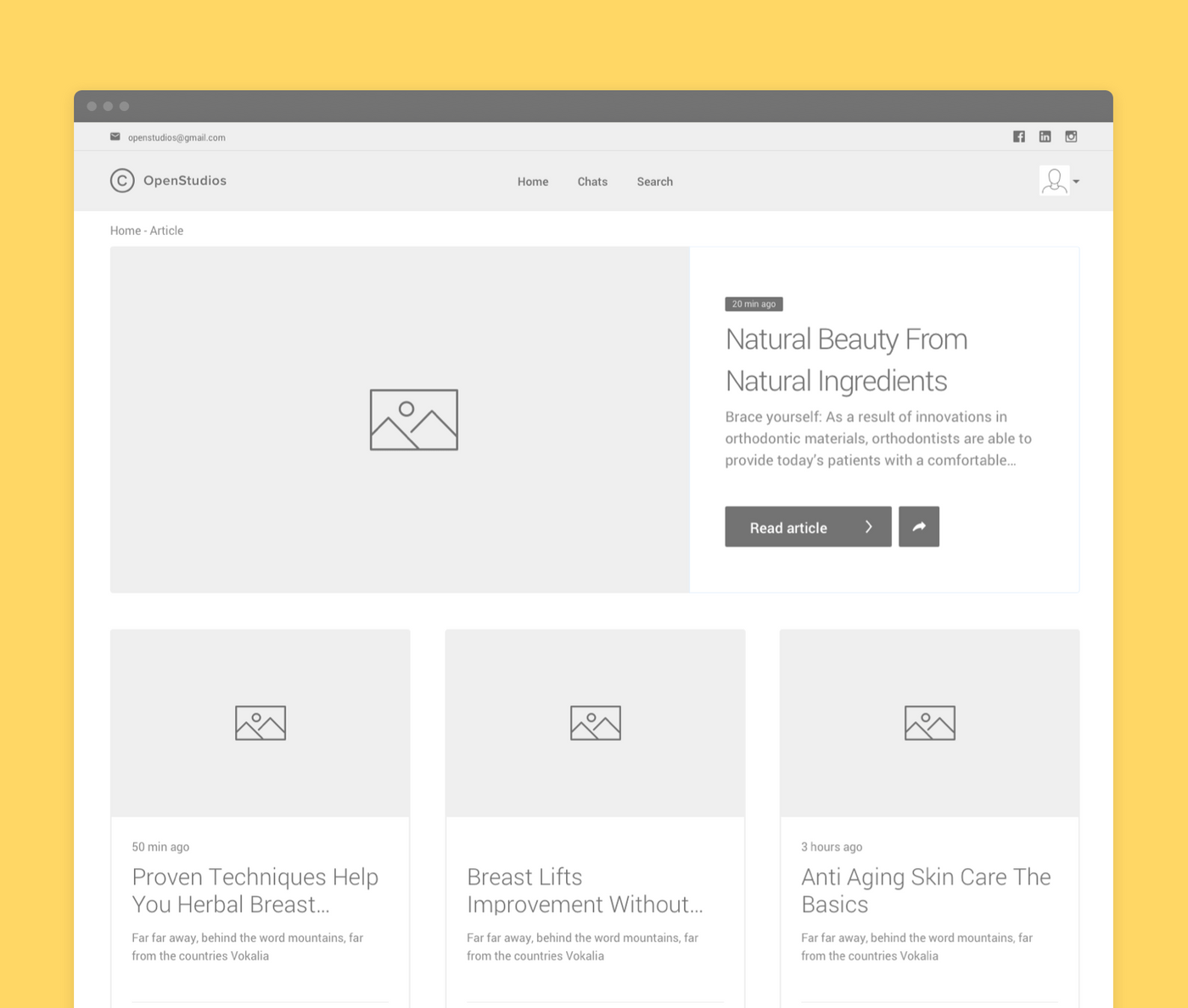 How web design wireframes look like