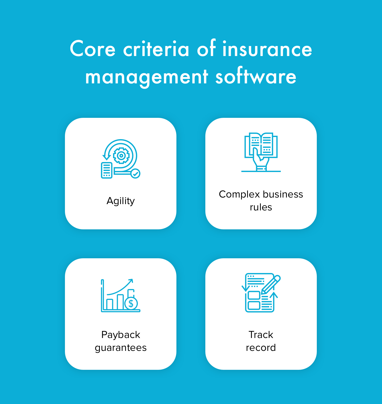 Core criteria of insurance management software