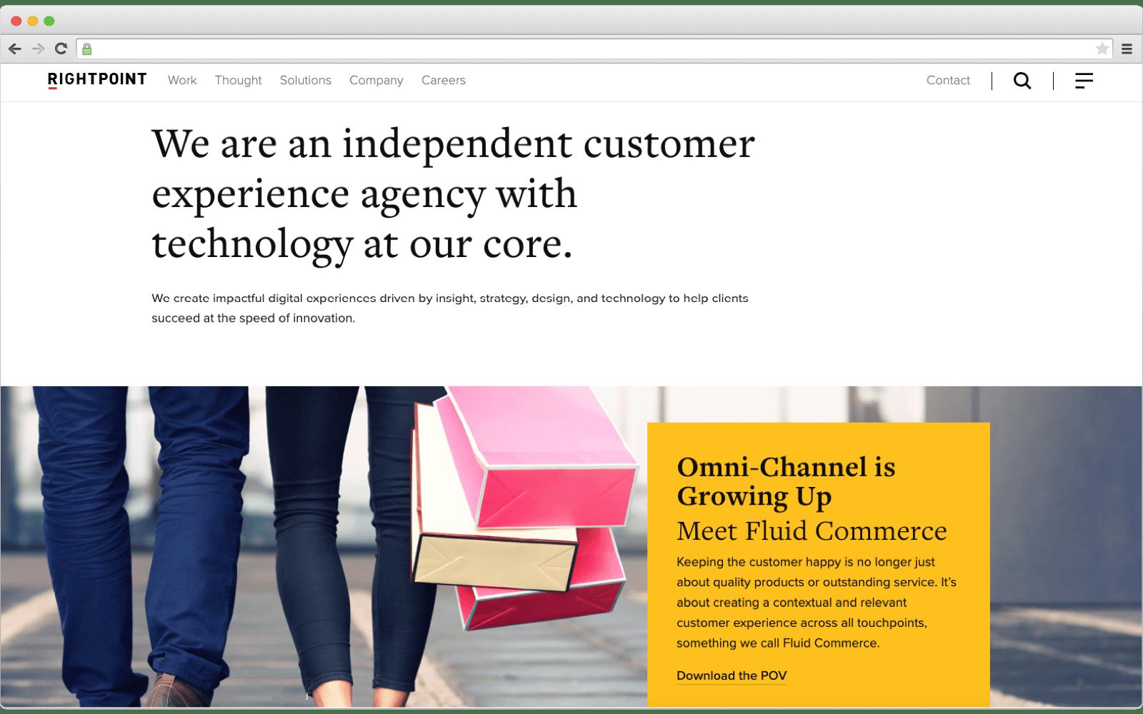 Ecommerce development company: Rightpoint