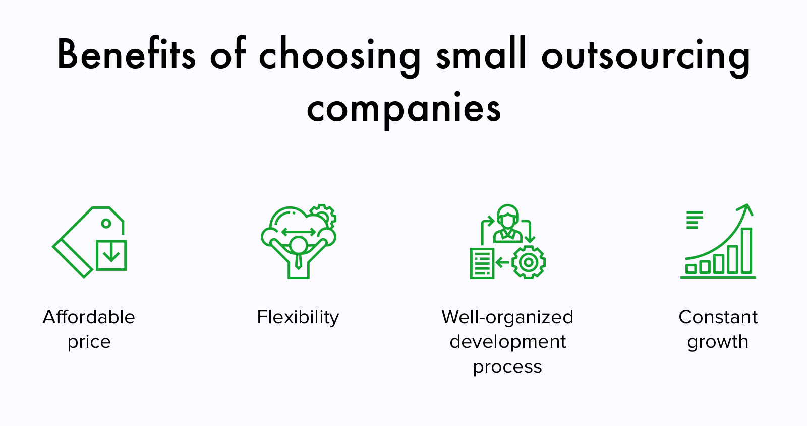 When to choose small outsourcing software development companies (pros)