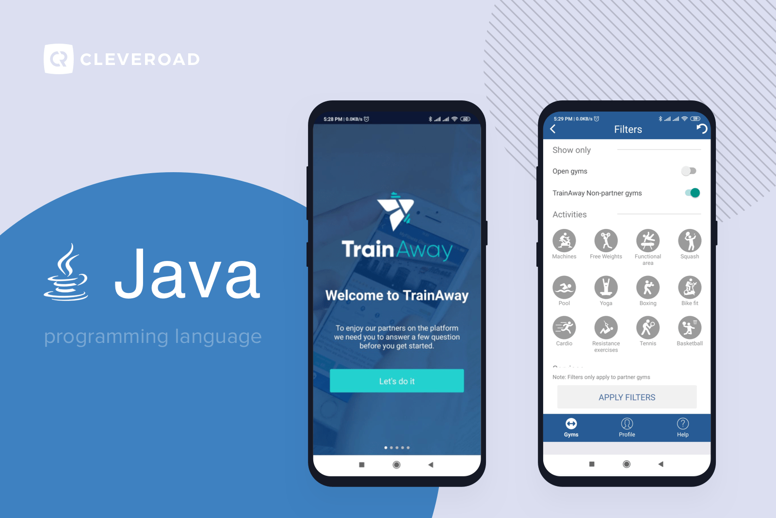 TrainAway app written in Java