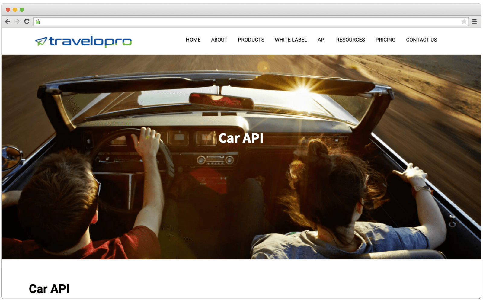 TraveloPro's Globar Car API