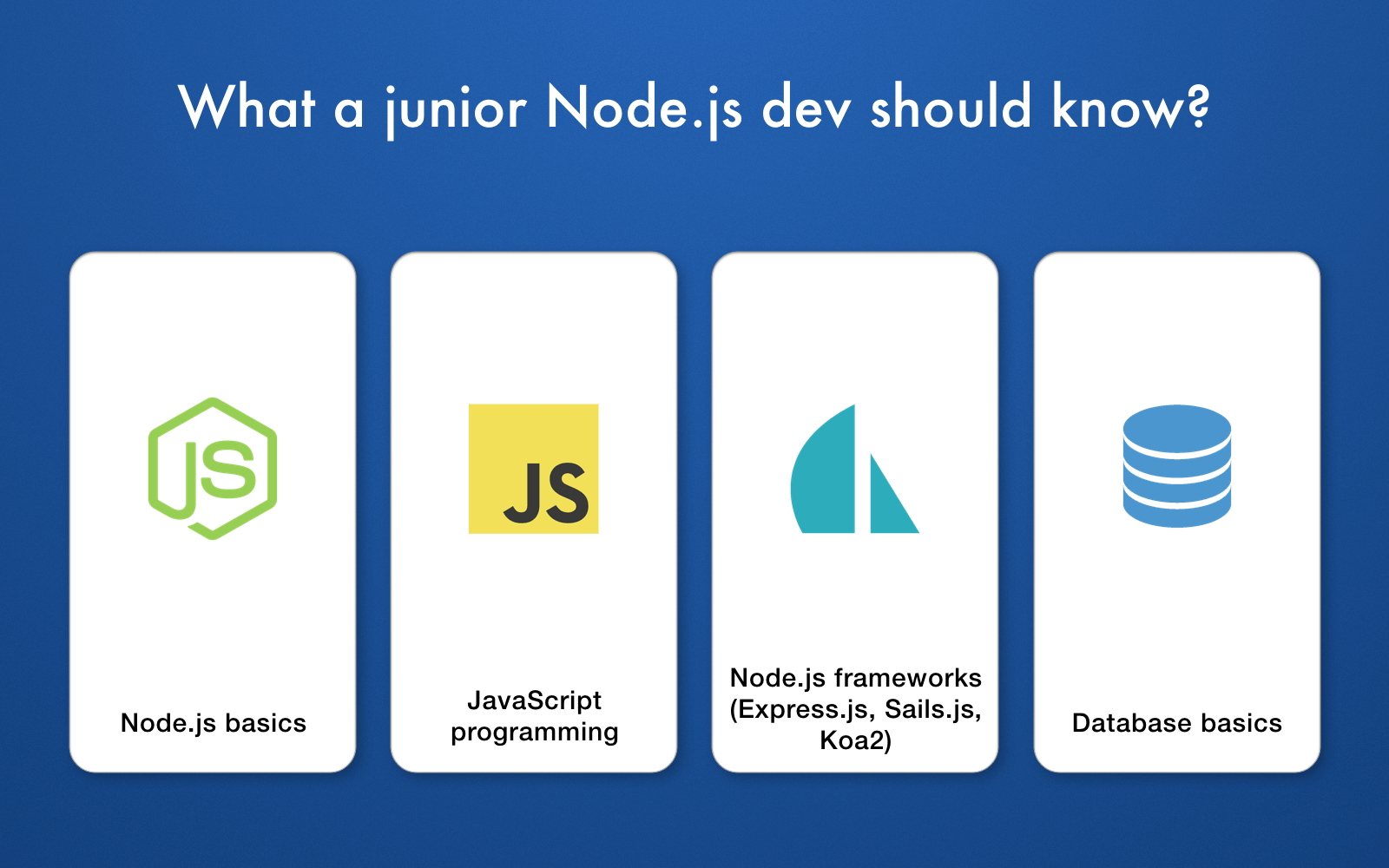 skills of a junior Node.js developer Savvycom