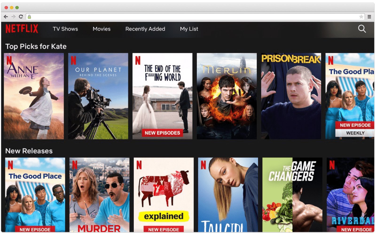 Netflix's recommendation system