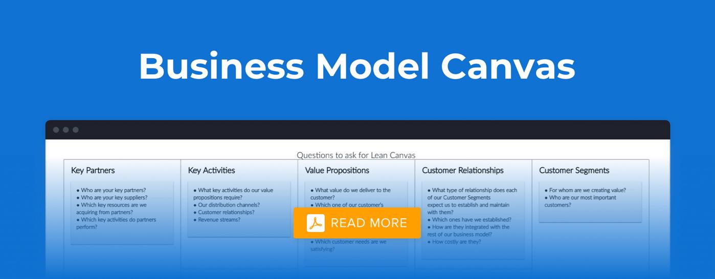 How business model canvas looks like
