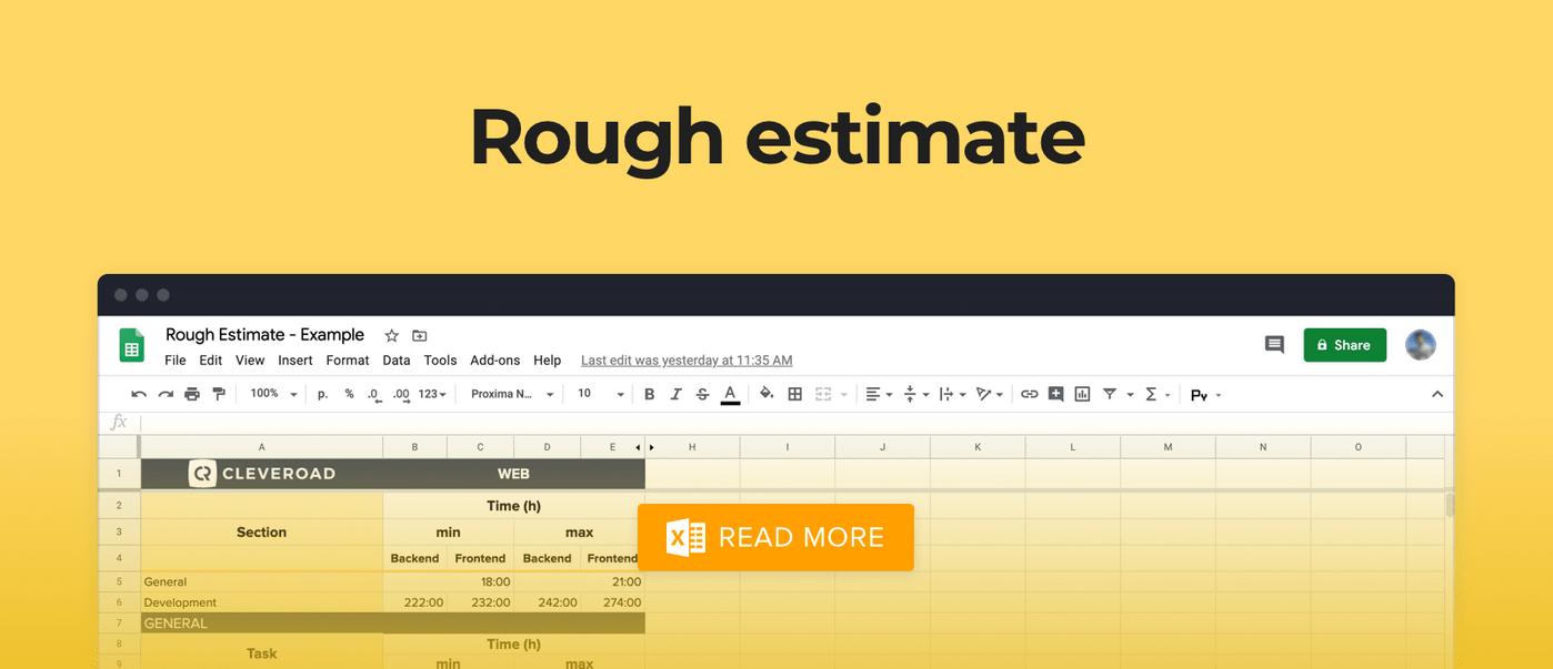 Estimation of website design cost
