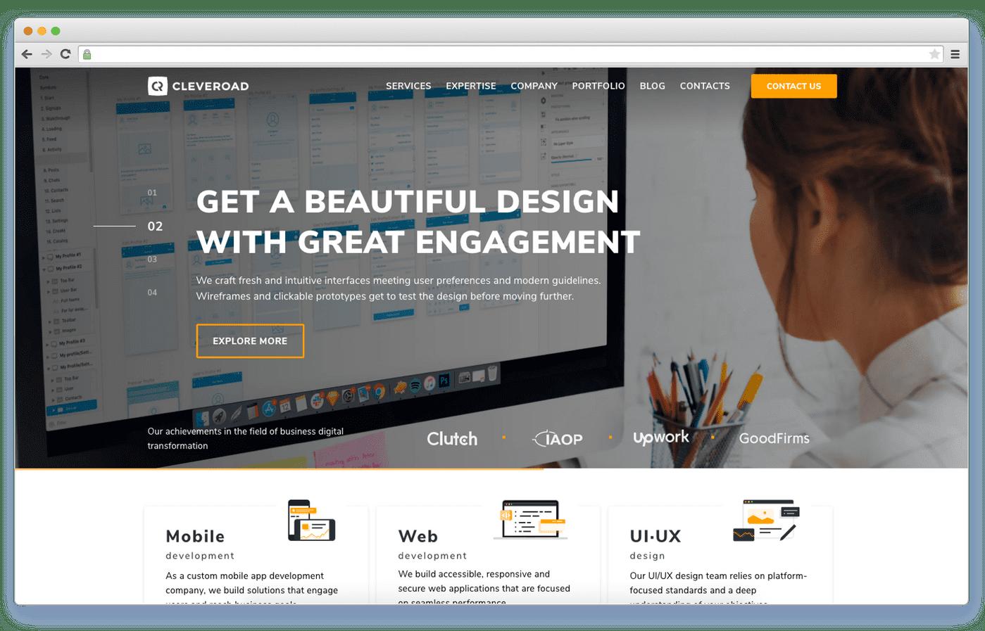 ERP software development company: Cleveroad