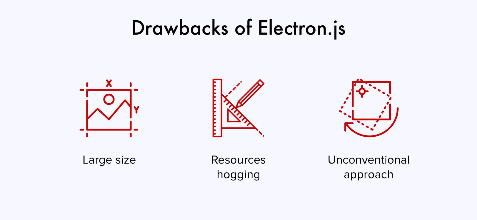 Electron.js drawbacks