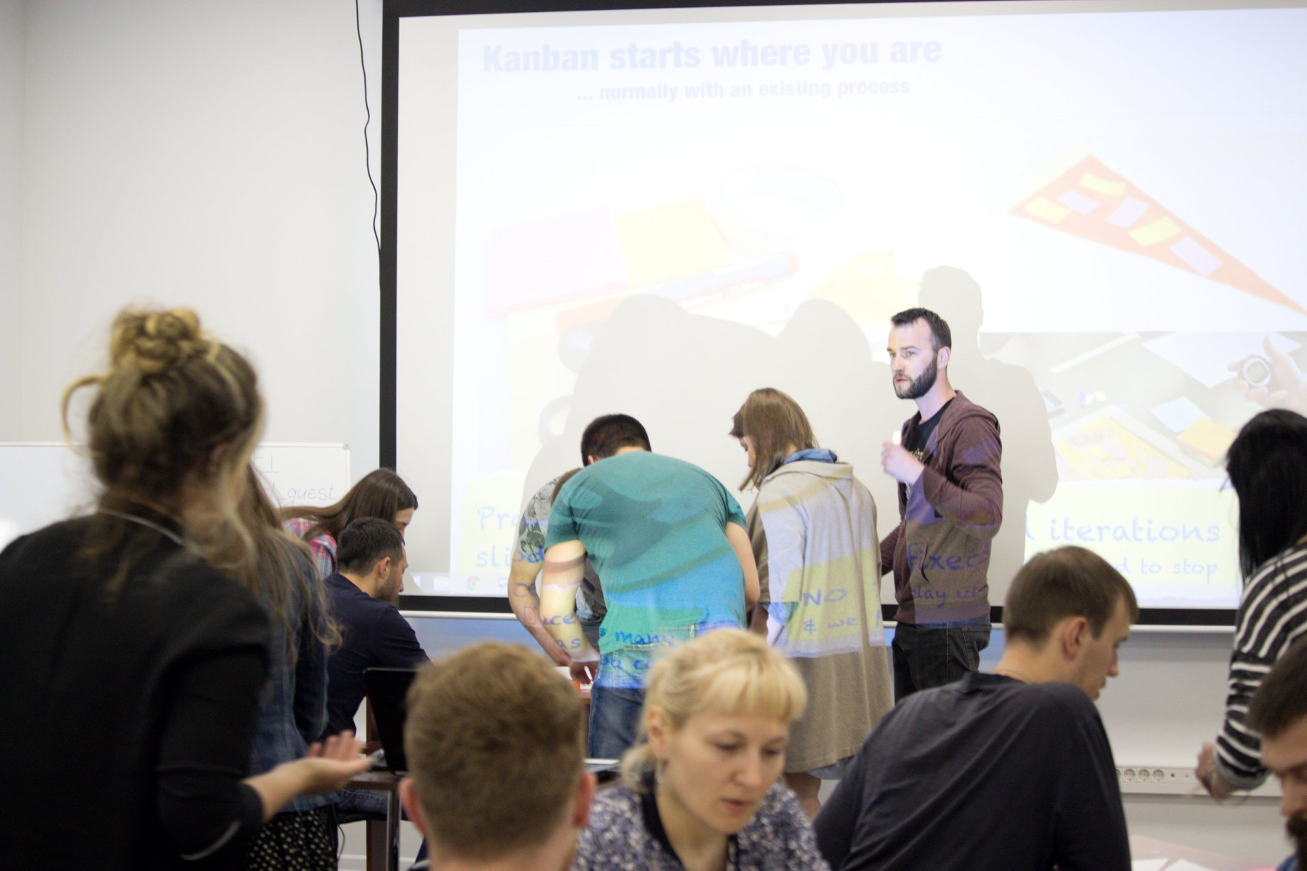Kanban Pizza event which Cleveroad hosted in its Dnipro office
