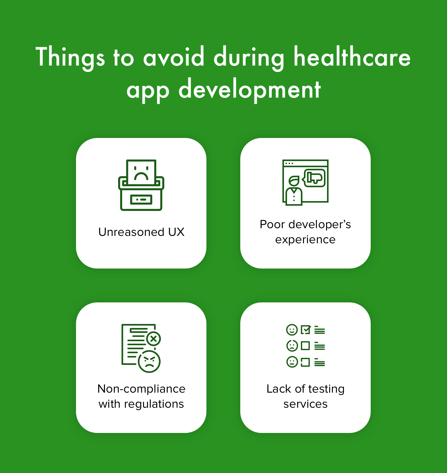 healthcare app weak sides