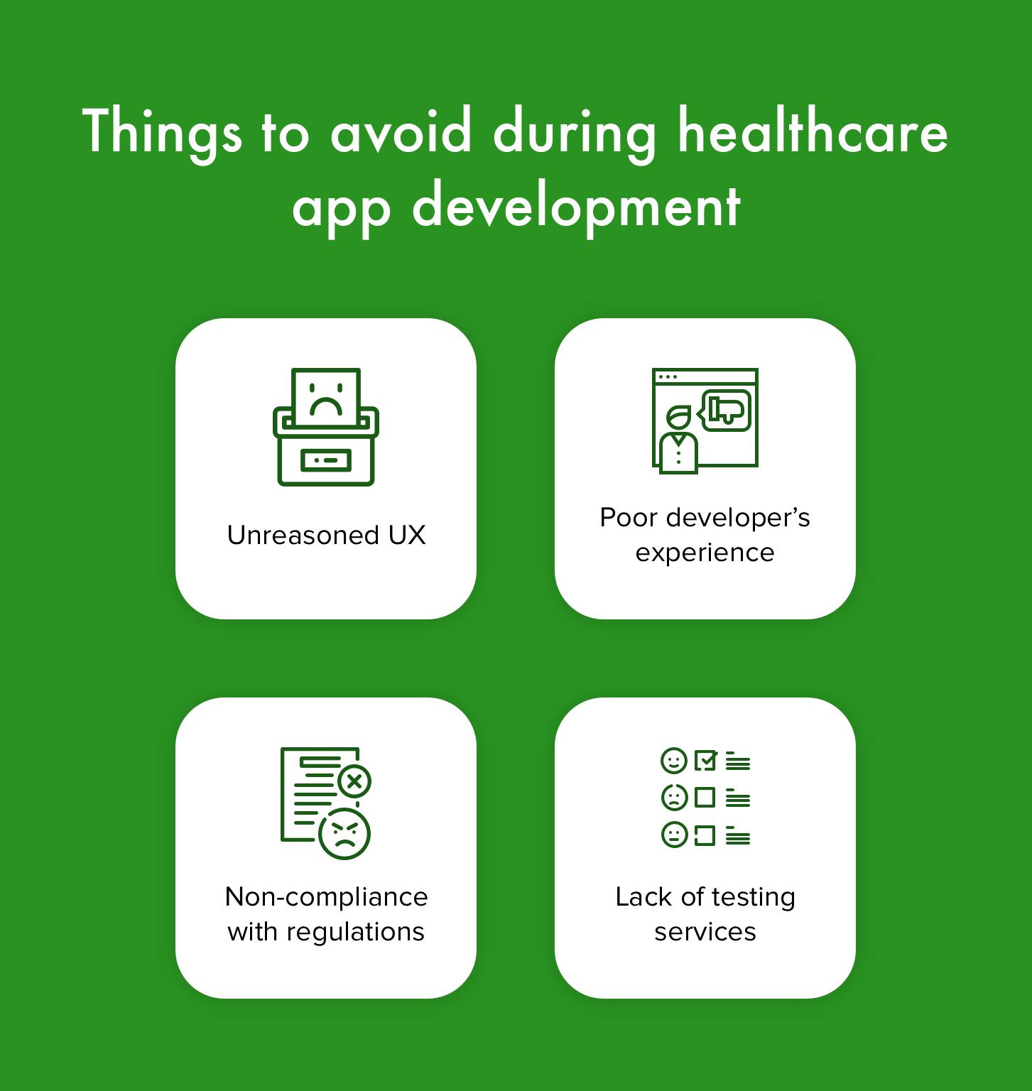 healthcare app weak sides