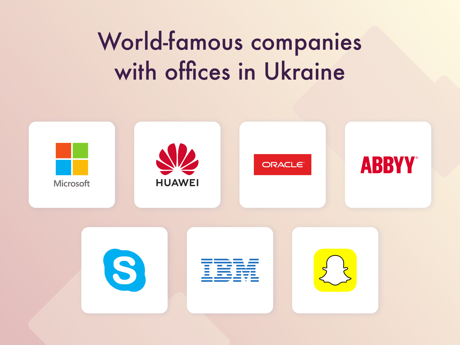 Famous companies with offices in Ukraine
