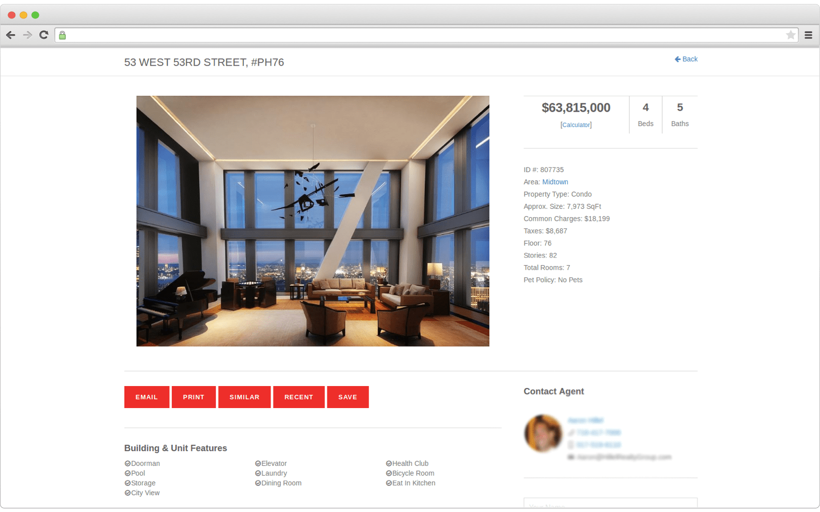 Example how listings on real estate websites may look