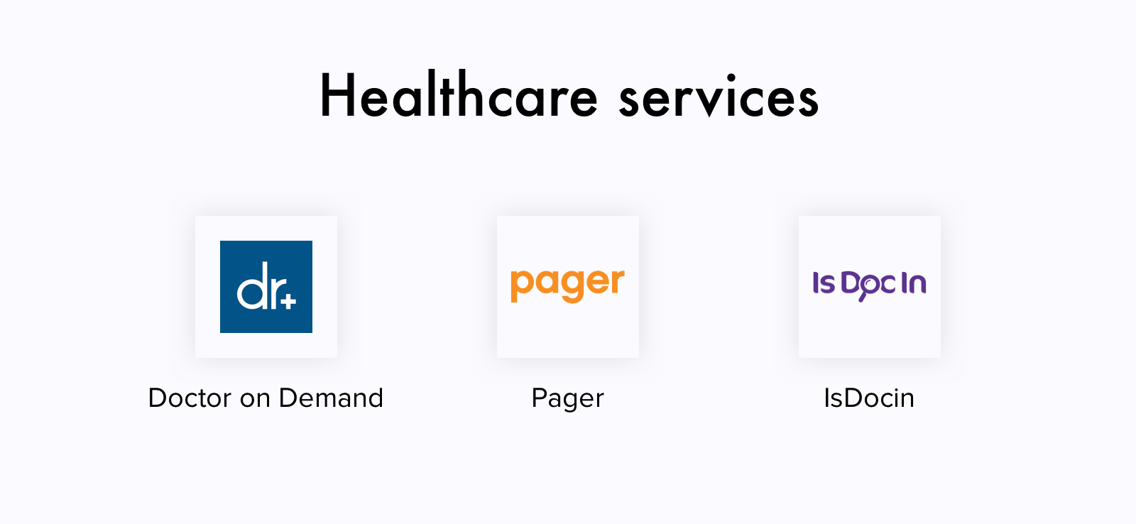 Healthcare service apps