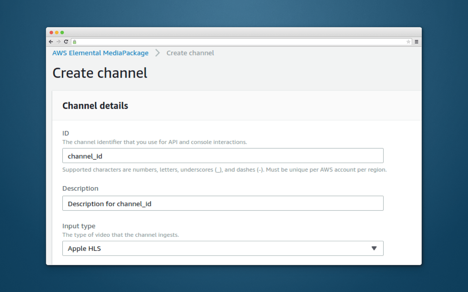 Channel in AWS Elemental MediaPackage